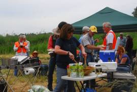 Lunch is served at the annual Field Trial